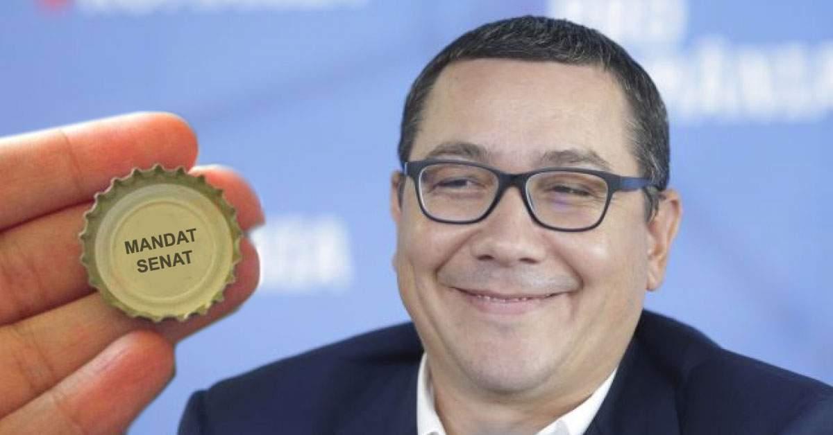 Ultima șansă pentru Ponta. La berea Burger poți câștiga un loc în Senat sub capac!
