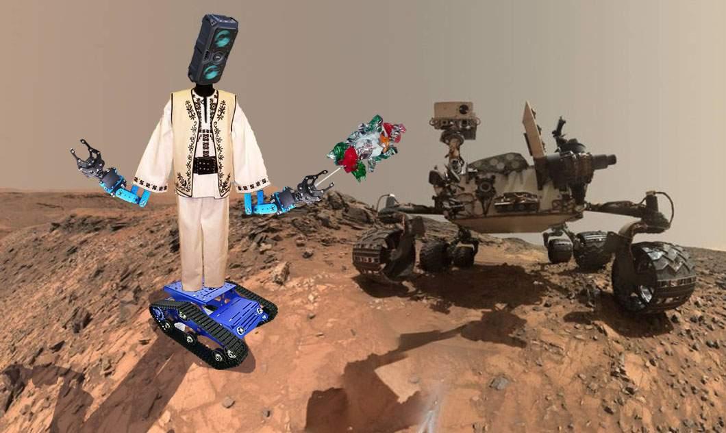 România a trimis pe Marte un robot în costum popular, să-l colinde pe Curiosity