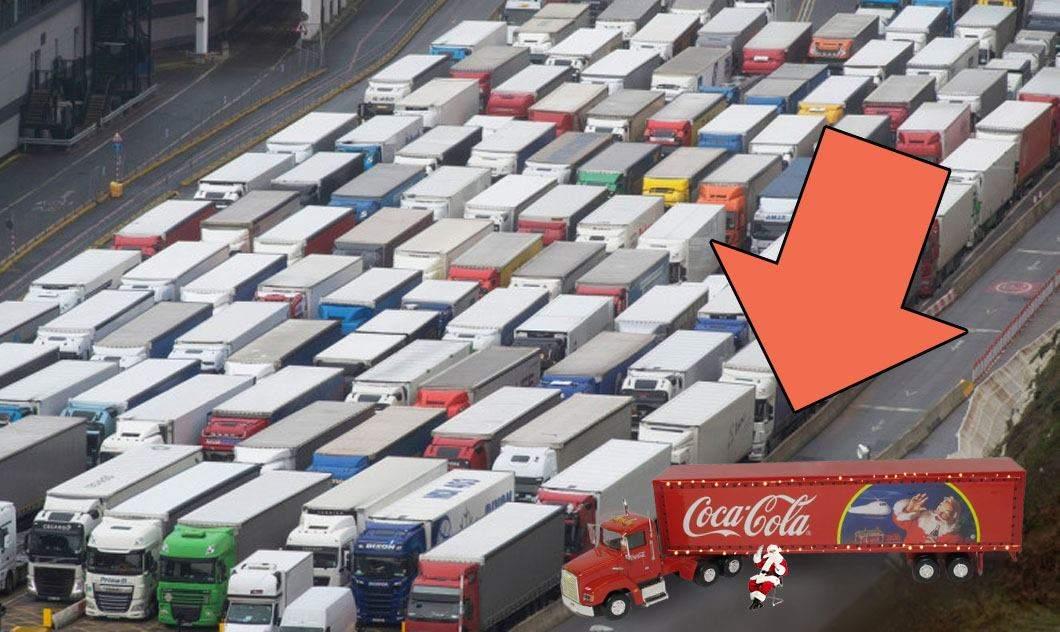 E oficial, Crăciunul s-a anulat! Camionul Coca-Cola e blocat în Anglia