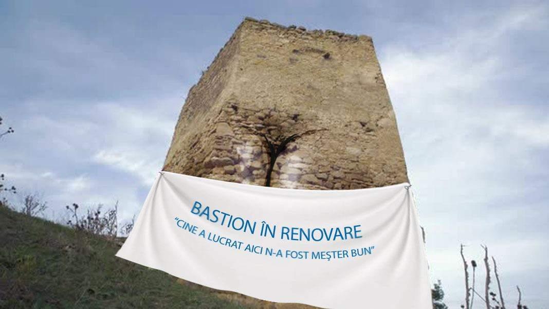 Brașov. Crăpătura din Bastionul Instalatorilor stă nereparată de 400 de ani