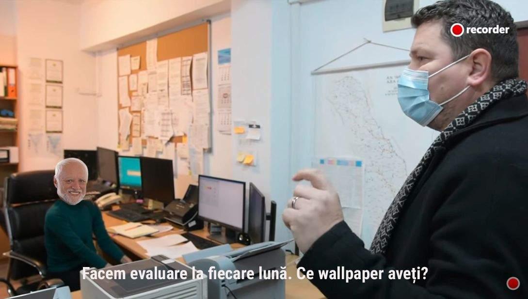 Angajat de la Apele Române, dat afară pentru că n-avea sigla PNL ca wallpaper