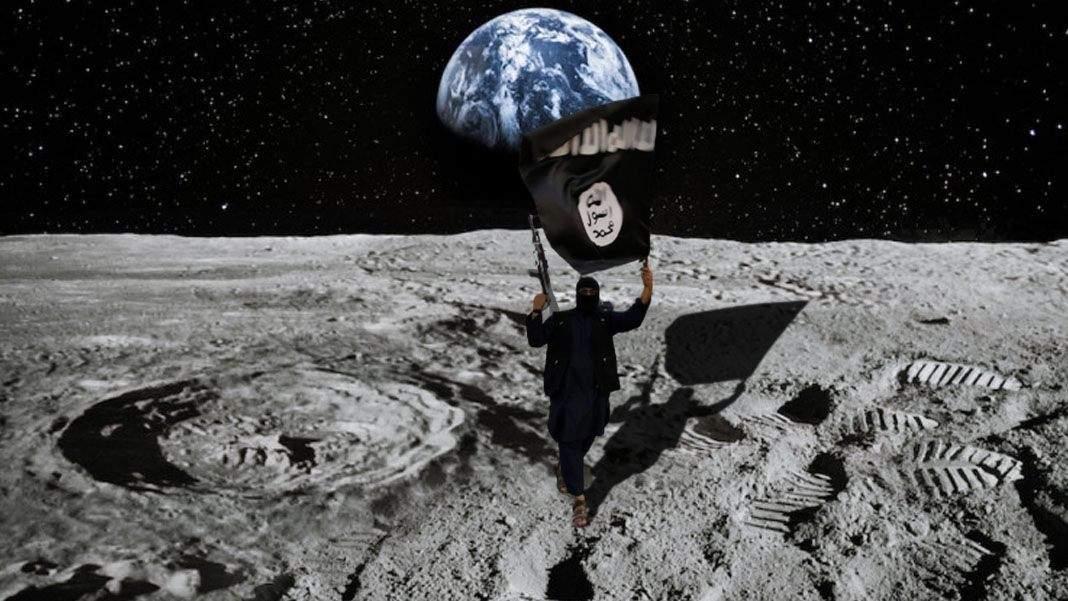 Statul Islamic a trimis un terorist să se detoneze lângă steagul american de pe Lună