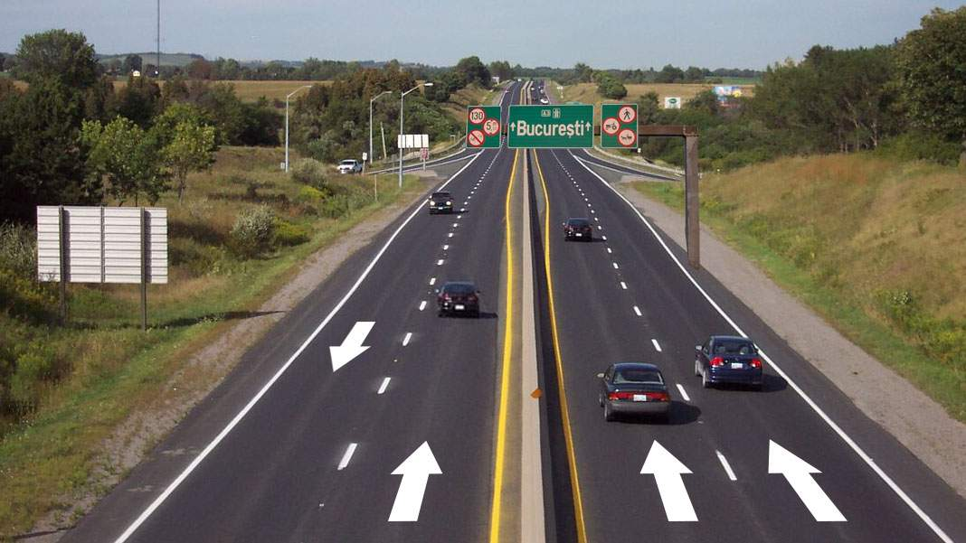 Smart! Autostrada Moldovei va avea 3 benzi spre București și una înapoi