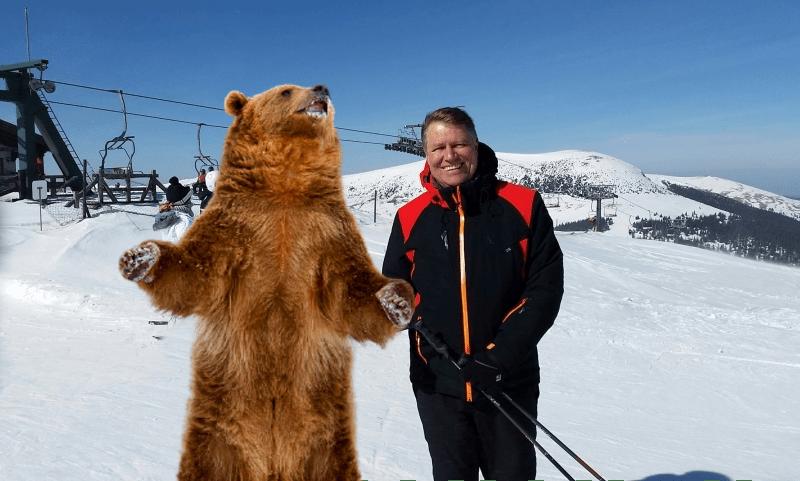Iohannis, întâlnire pe pârtie cu preşedintele urşilor. Cei doi au mormăit patru ore