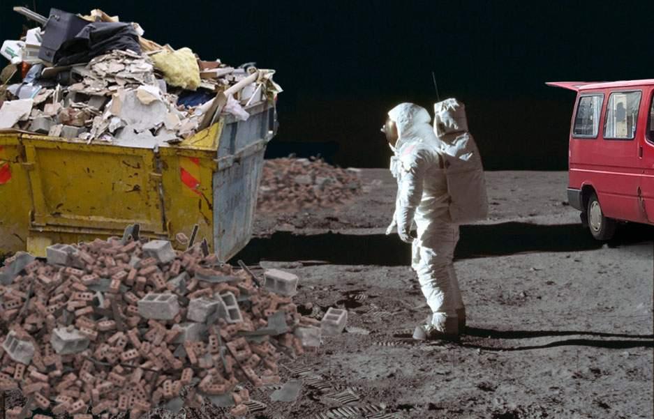 Începe programul spaţial românesc! Tone de moloz vor fi aruncate ilegal pe Lună