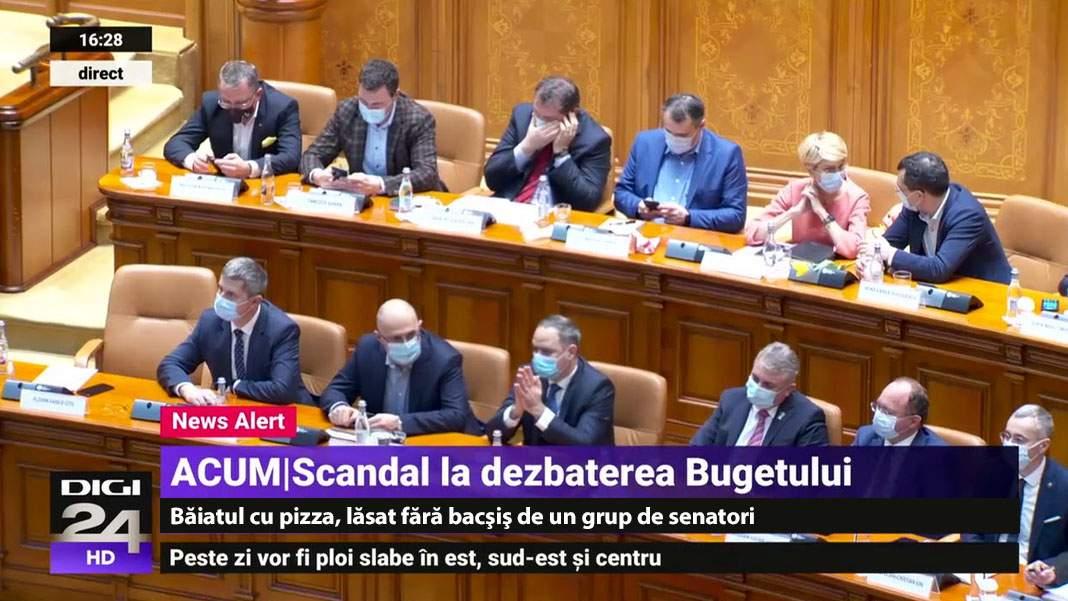 Scandal pe buget în Parlament! Cineva n-a pus bani la cheta pentru pizza