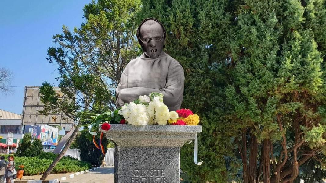 A opta statuie a lui Hannibal Lecter dezvelită de canibalii din Mediaș
