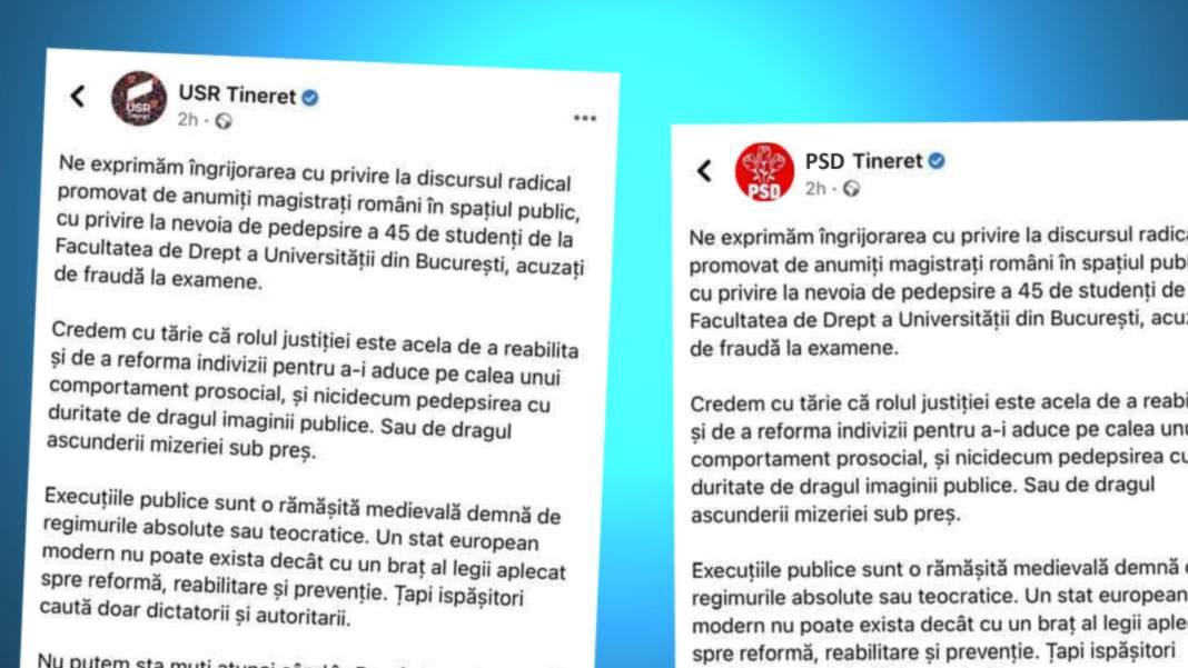PSD Tineret acuză USR Tineret că le-a copiat părerea despre copiat