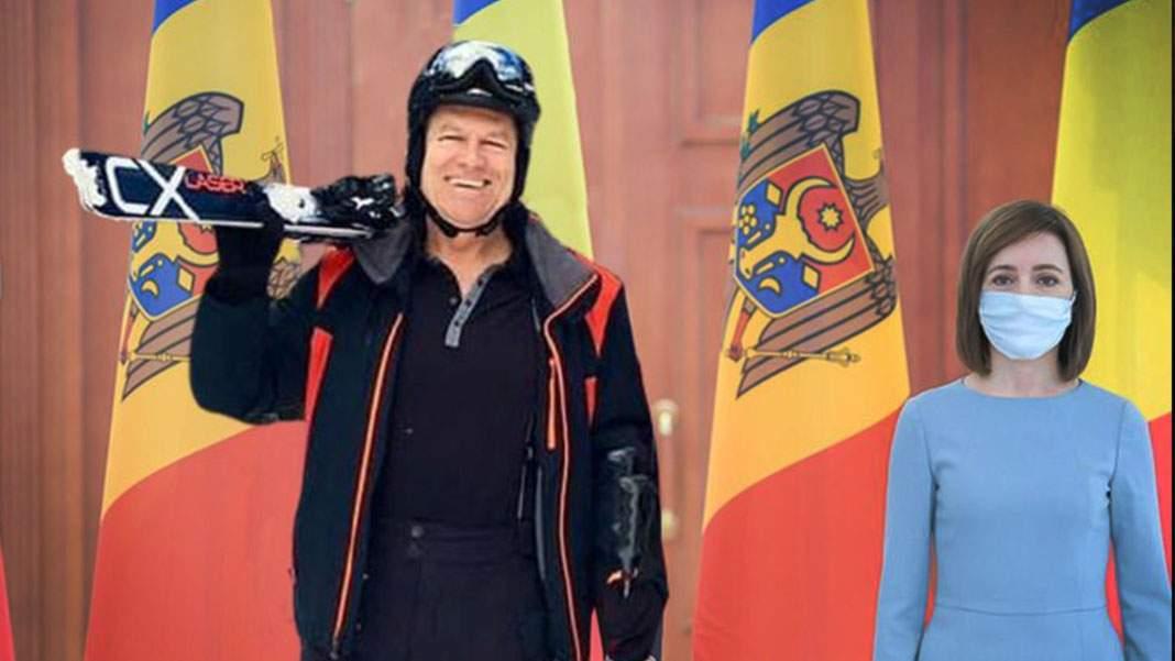 Gafă diplomatică. Maia Sandu a venit la întâlnirea cu Iohannis fără schiuri