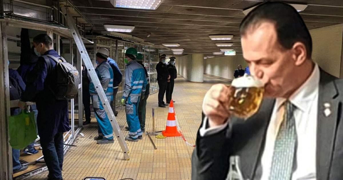 Demolare la metrou. Ludovic Orban ajută și el, a venit rangă!