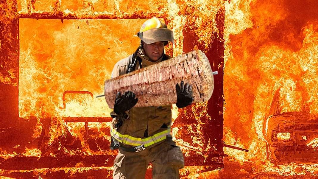 Foto. Eroul de la Dristor. El e pompierul care a salvat șaorma din flăcări!
