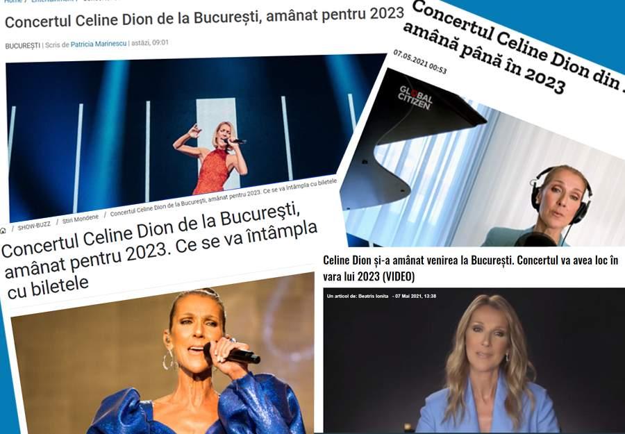 Mulțumim, Covid! Concertul Celine Dion de la București a fost amânat