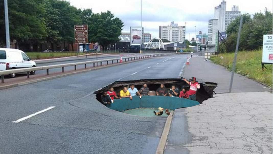 Lupte ilegale de cocoși într-o groapă în asfalt din centrul Capitalei!