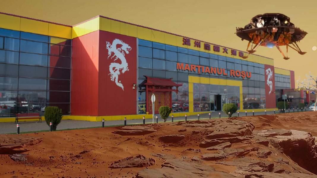 Robotul chinezesc a deschis deja primul magazin en-gros de pe Marte