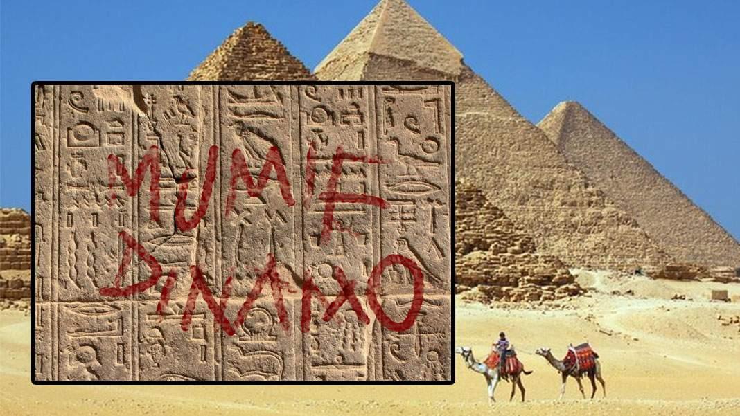 "Pasionat de Egipt! Un român a scris ""Mumie Dinamo"" pe piramida lui Kheops"