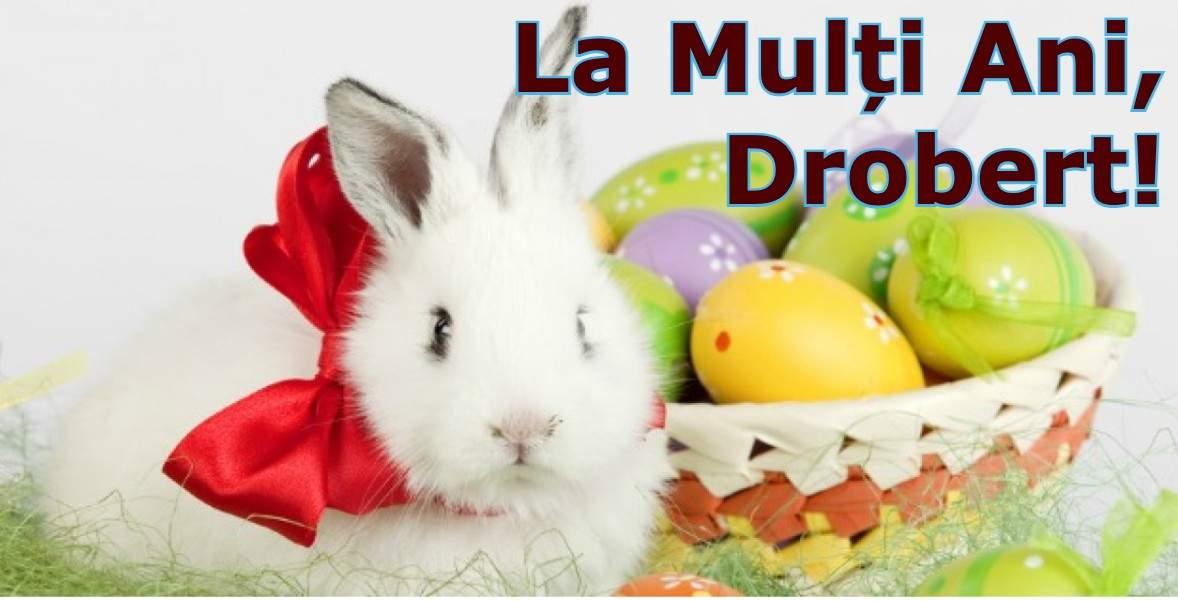 E Paștele! La mulți ani tuturor românilor care poartă numele Drobert!