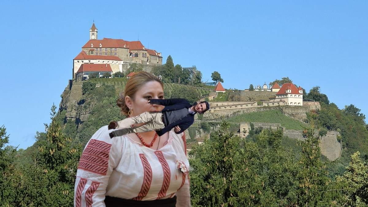 Șoșoacă, văzută alergând cu prințul de Liechtenstein în gură