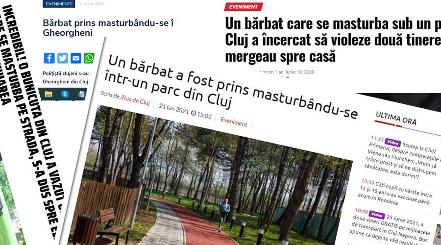 Primăria Cluj, acuzată că n-a mai dat cu soluţie anti-onanişti în parcuri de 2 ani