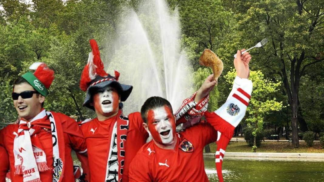 S-au răzbunat! Suporterii austrieci au mâncat lebedele din parcul Cișmigiu