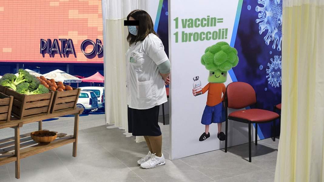 Zero vaccinați la centrul din Obor pentru vegani, unde se dă broccoli, nu mici