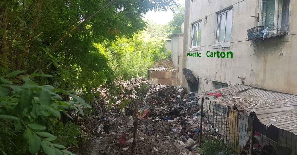 Românii aruncă gunoiul selectiv. Peturile pe un geam, cartonul pe alt geam