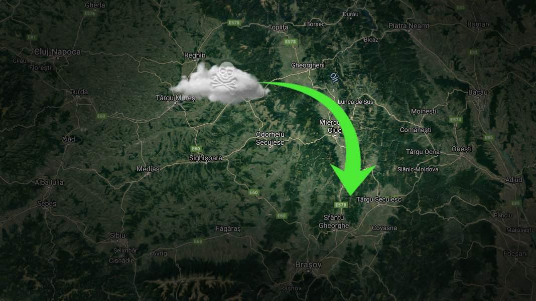 Vești bune de la ISU. Norul toxic de la Azomureș se îndreaptă spre Secuime