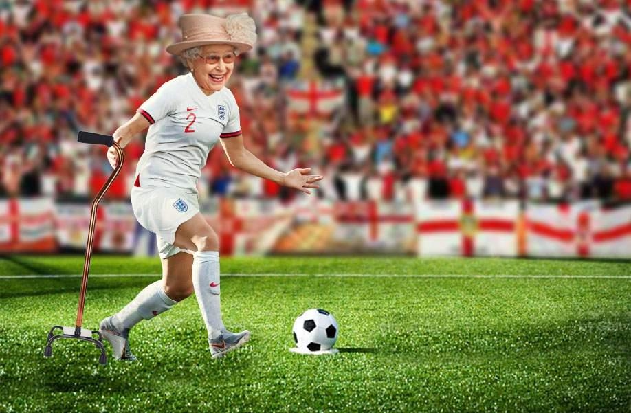 Regina Angliei e furioasă: Data viitoare bat eu penaltiurile!