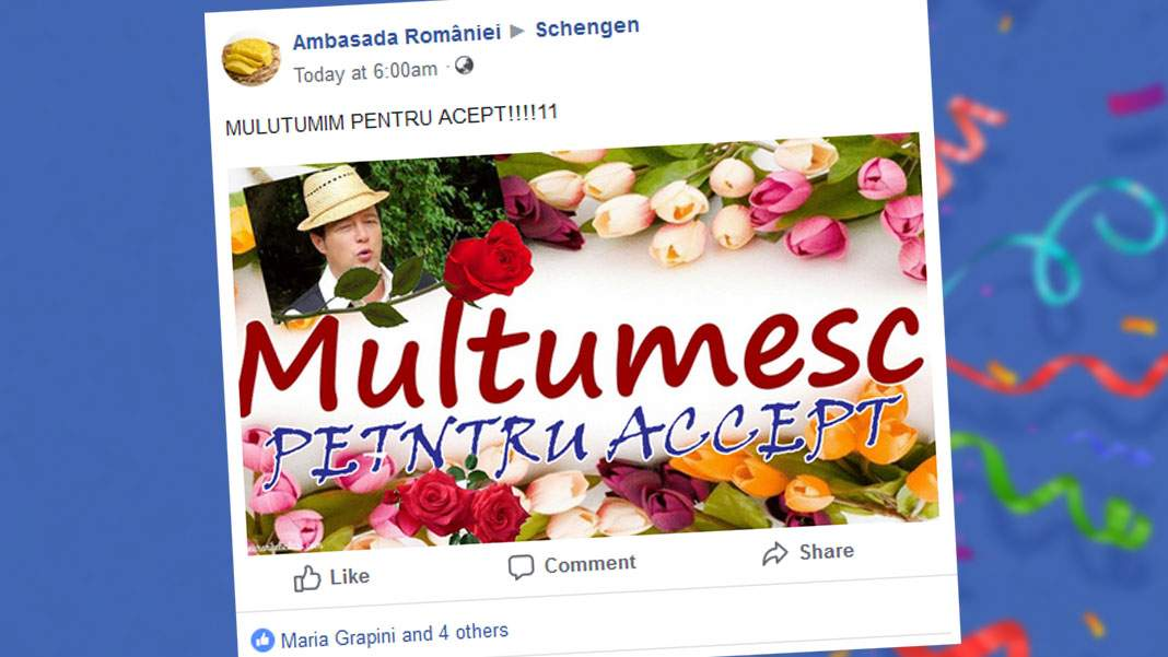 """Românii nu sunt primiți în Schengen pentru că vom zice """"Mulțumim pentru Accept!"""""""