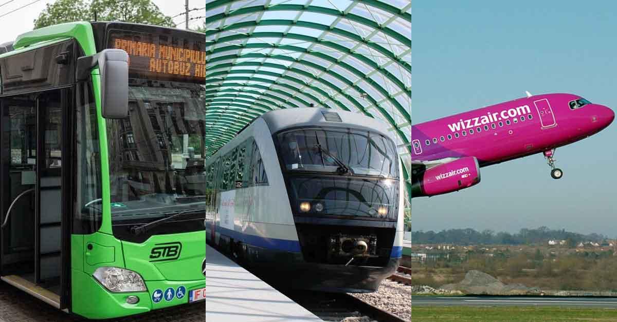 STB, CFR și WizzAir lansează biletul integrat Gara de Nord-Otopeni-Italia