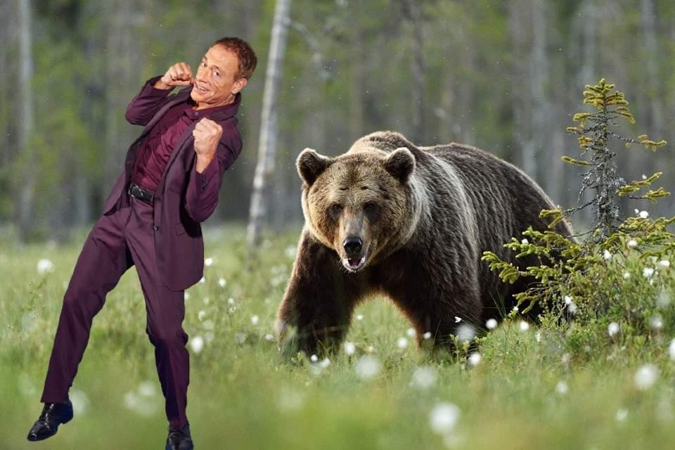 Scandalos! Actorul belgian Van Damme a bătut cel mai mare urs din România!