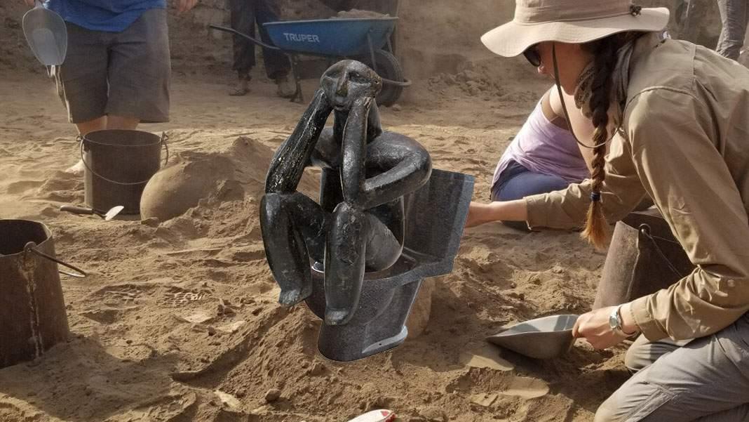 Arheologii au găsit și WC-ul de la Hamangia, pe care stătea Gânditorul