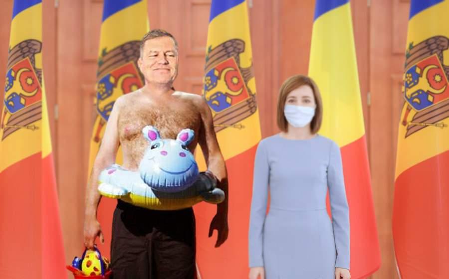 Gafă: Iohannis s-a dus la Chişinău în slip deşi Moldova n-are ieşire la mare