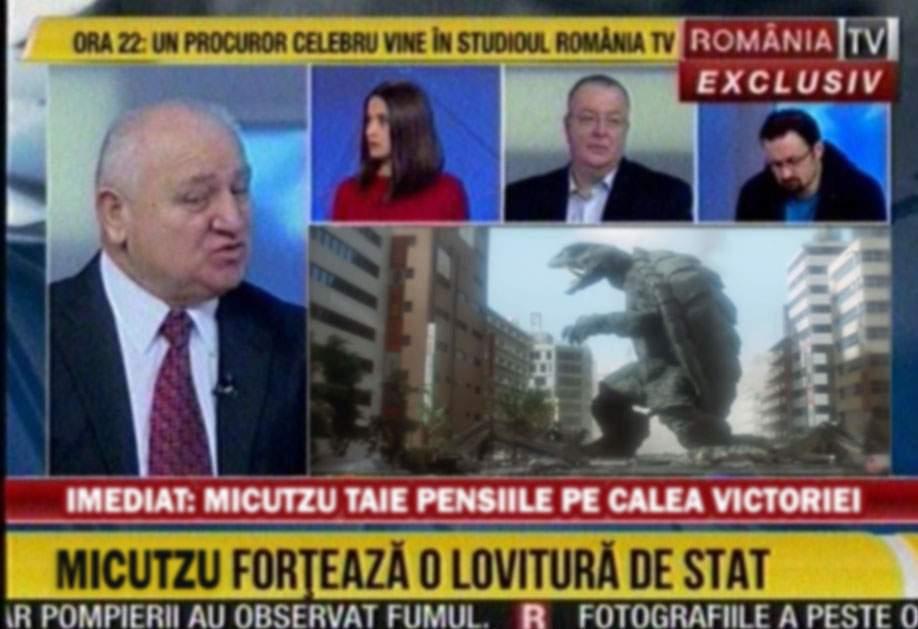 Potrivit RTV, comediantul Micutzu a intrat cu camionul în mulțime pe Victoriei