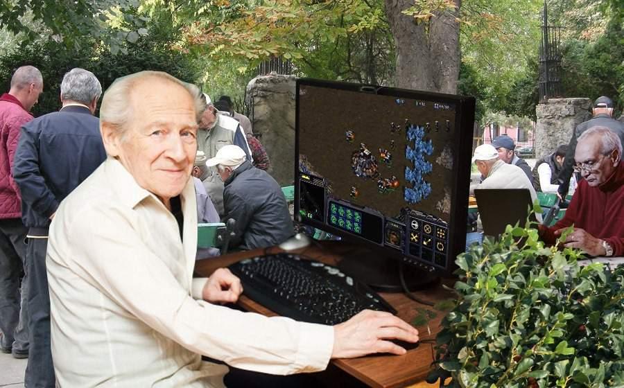 În parcul IOR va fi amenajat un spaţiu pentru pensionarii care se joacă Starcraft