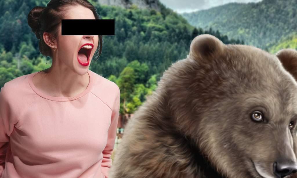Urs, la un pas să fie sfâșiat de o femeie care a crezut că a făcut-o grasă