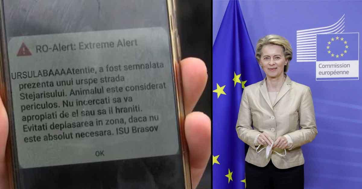 Vizita Ursulei, șefa UE, umbrită de gafa Ro-Alert, care a dat: URSULA, BĂĂĂ!