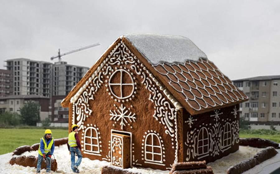 Din cauza scumpirii materialelor, tot mai mulţi români aleg casele din turtă dulce