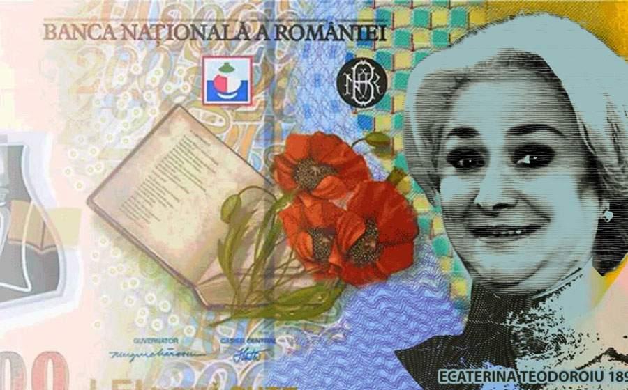 Pe noua bancnotă, Ecaterina Teodoroiu seamănă suspect de mult cu cineva de la BNR