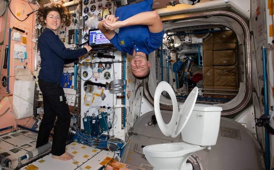 Femeia de pe stația spațială, criză de nervi, că se tot ridică colacul singur