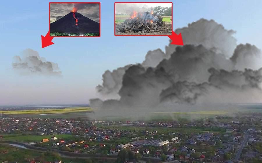Norul de fum toxic din Canare se întâlneşte azi cu omologul său din Ilfov