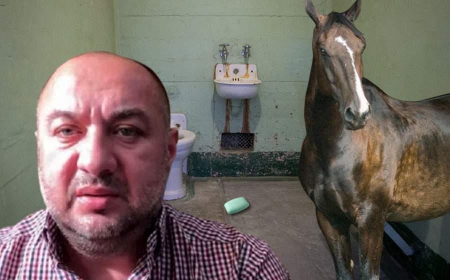 Dacă scapă săpunul a pus-o! Leo din Strehaia e coleg de celulă cu calul