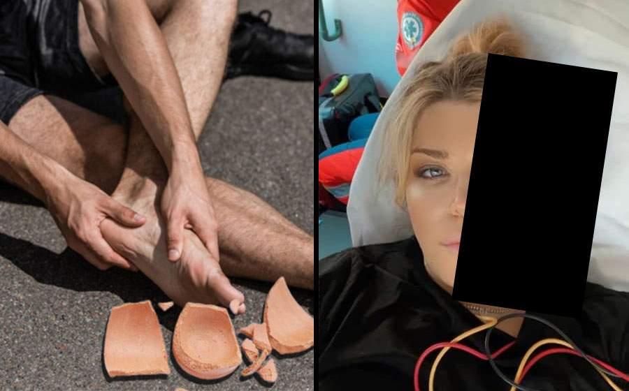 Loredana, în spital după ce i-a căzut o bucată de tencuială de pe față pe picior