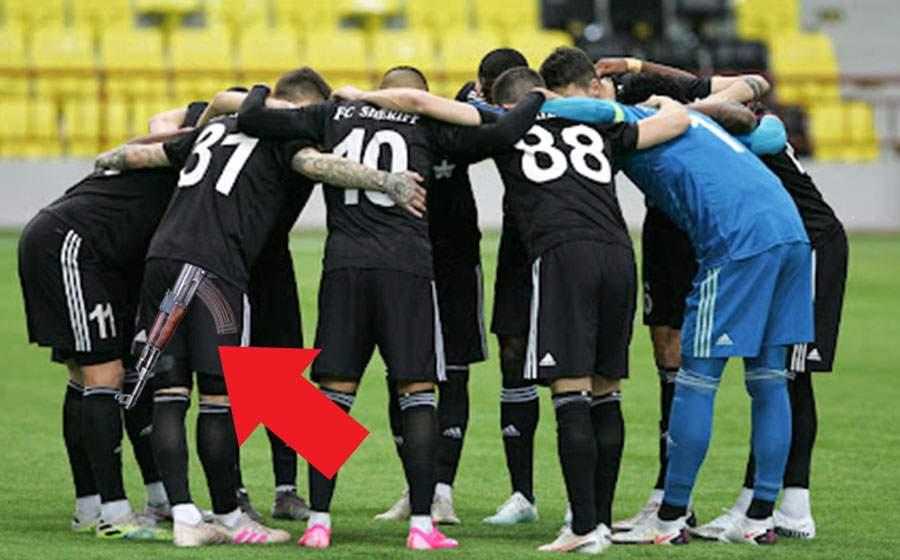 Real, joc slab după ce unui jucător de la Tiraspol i s-a văzut Kalaşnikovul sub tricou
