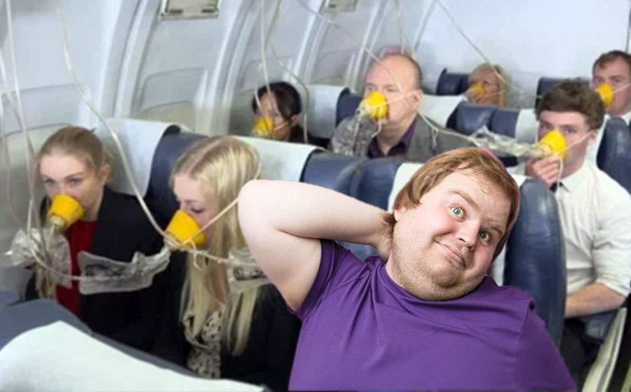 Panică într-un avion după ce un pasager care mâncase fasole s-a depresurizat