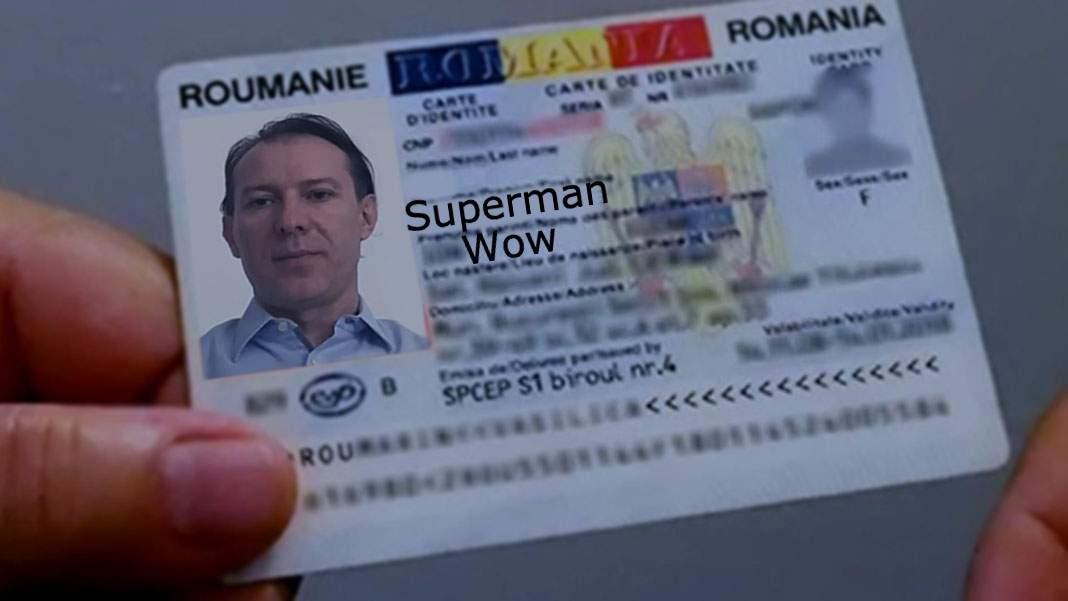 Moţiunea e pe numele Florin Vasile Cîţu, dar în acte îl cheamă Superman Wow